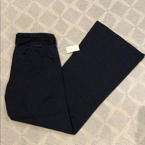 NWT Wide leg navy pants